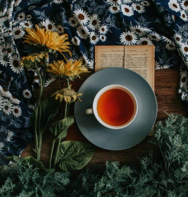 Tea, Book & Flower